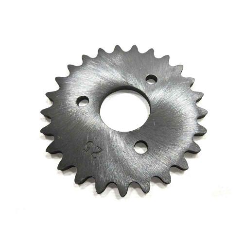 "25 Tooth Sprocket, Aluminum, #35 Chain, P5256 - 1"" Bore, 1.687"" Bolt Circle"