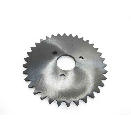 "34 Tooth Sprocket, Aluminum, #35 Chain, P5256 - 1"" Bore, 1.687"" Bolt Circle"