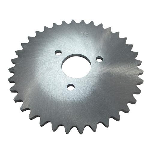 "36 Tooth Sprocket, Aluminum, #35 Chain, P5256 - 1"" Bore, 1.687"" Bolt Circle"