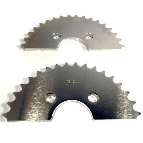 "36 Tooth Axle Sprocket, Aluminum, 40 Chain 1.75"" Bore, 2.75"" Bolt Circle"