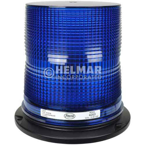 "4263B Preco 6"" Double Flash Blue Strobe Light, 12-48V"