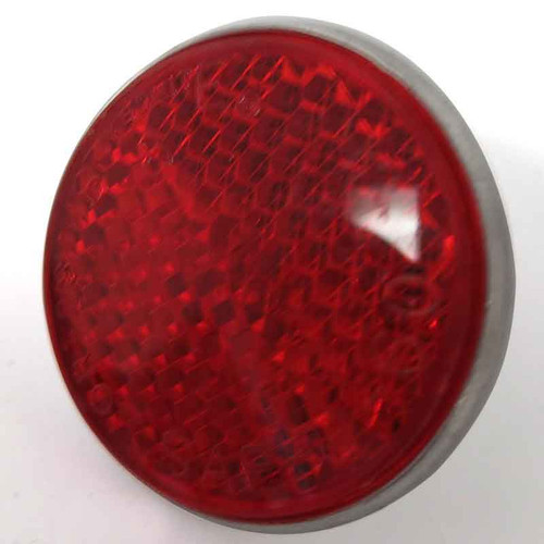 """1-1/4"""" Round Red Screw in Reflector"""