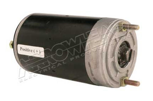 DC Motor for Meyer, Snow Plow Motor, 12-Volt, CCW, with 3/16 Slot, Ground Post on CE Cover
