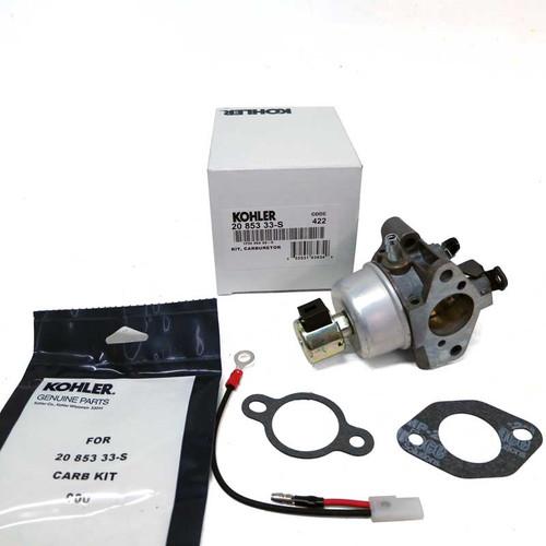 Genuine Kohler 20 853 33-S Carburetor