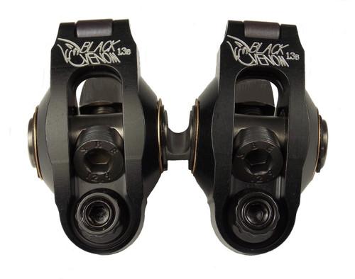 1.3 196cc Black Venom Roller Rocker Set
