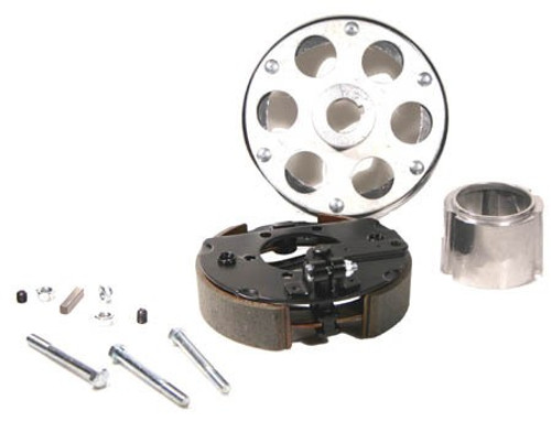 """6"""" Plated Drum Brake Assembly, Riveted to 1-1/4"""" Uni-Hub w/ Spacer and Hardware"""