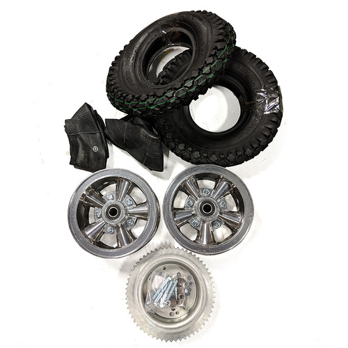 "6"" Astro Wheel Package - Studded Tire - 60 Tooth Sprocket"