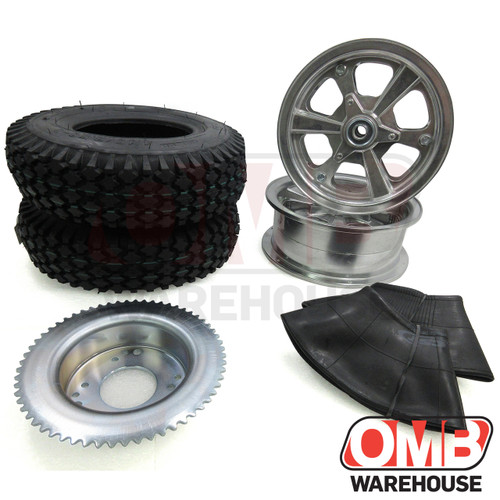 """8"""" Spinner Wheel Package - Studded Tire - 60 Tooth Sprocket"""