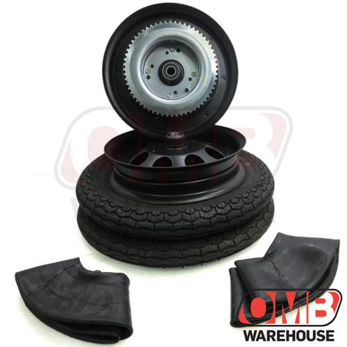 "10"" Black Wheel Package - Universal Tire - 60 Tooth Sprocket"