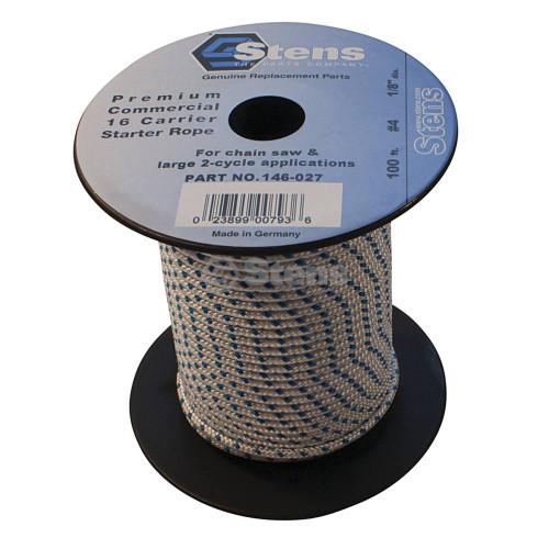 100' Solid Braid Starter Rope / #4 Solid Braid