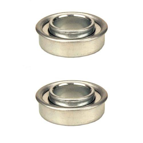 """(2) Flanged Ball Bearings 5/8"""" ID x 1-3/8"""" OD 45-058"""