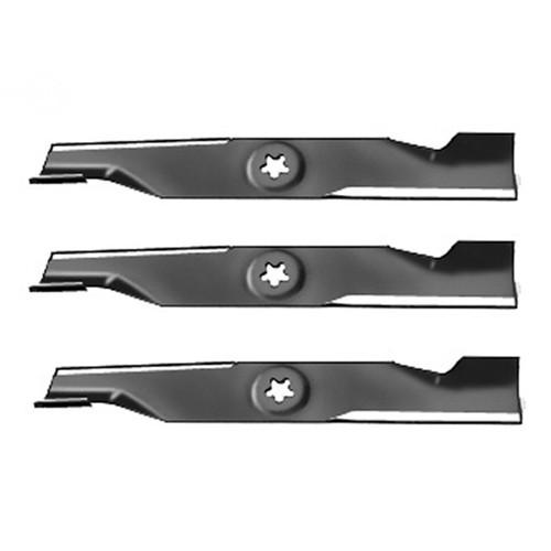 "Set Of (3) Blades Ayp 16-5/8""X5 Point Star High-Lift Replaces: AYP/ROPER/SEARS 173920  AYP/ROPER/SEARS 180054"