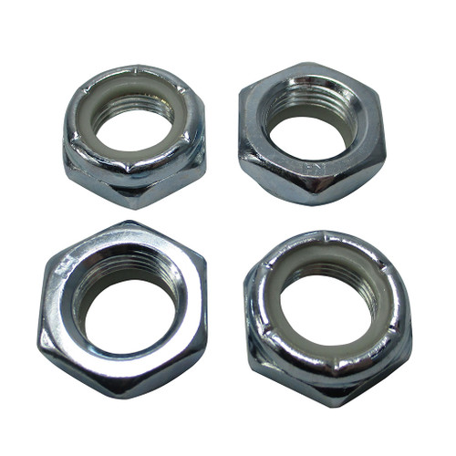 """(4) 5/8"""" Nylock Nuts for Vintage Mini Bike Axles & Fork Neck Bolts"""