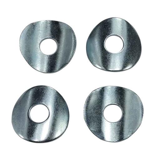 """Set of (4) Zinc-Plated Steel Curved Washers 7/8"""" Tube OD 5/16"""" Mini Bike Go Kart"""