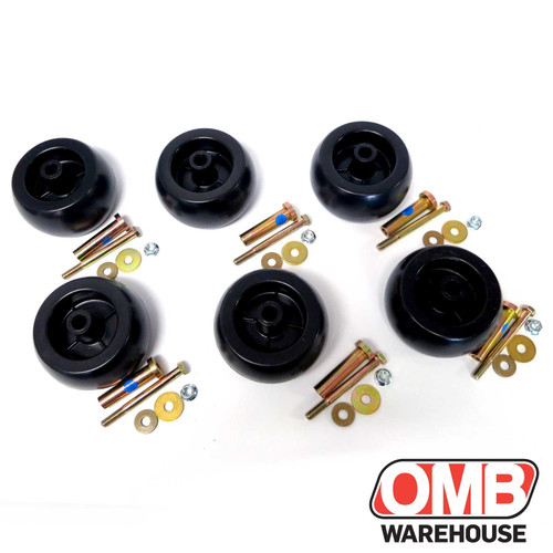 (6) Six Deck Wheels Plastic Compatible With Ex-Mark 103-3168 103-4051 exmark