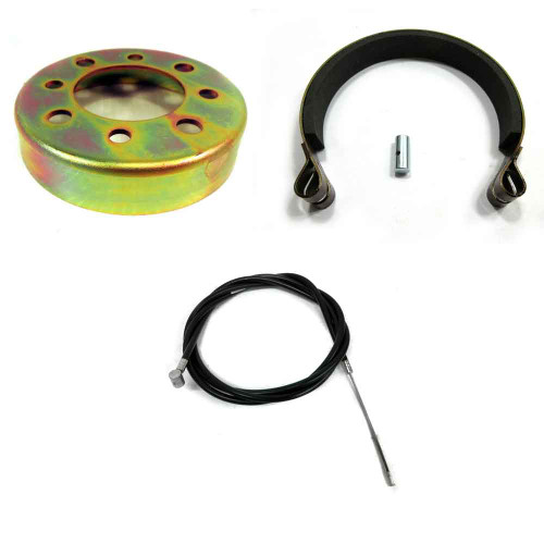 "4"" Band Brake Drum Kit w/cable Go Karts Mini Bikes Drift Trike Gravity Cart"