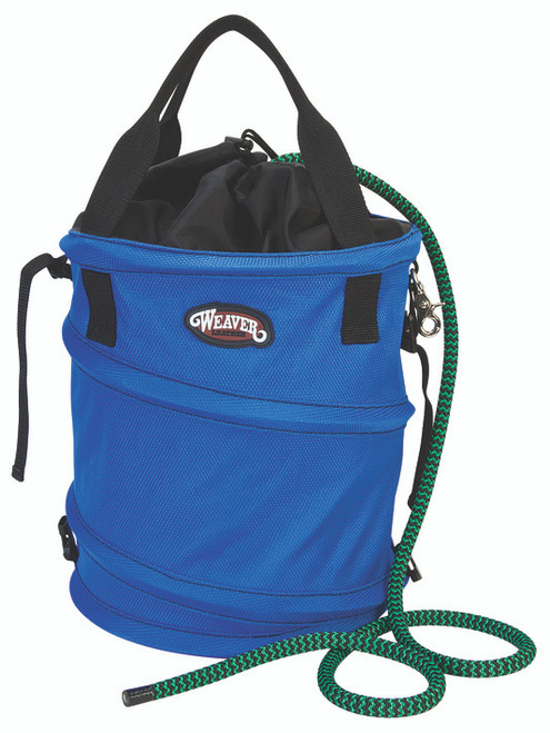 Weaver Leather Collapsible Basic Rope Bag,Blu