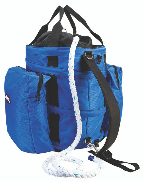 Weaver Leather Collapsible Bull Rope Bag,Blue