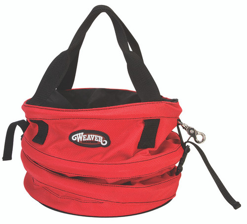 Weaver Leather Collapsible Basic Rope Bag,Red