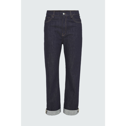 Dorothee Schumacher pant denim love raw denim dark blue
