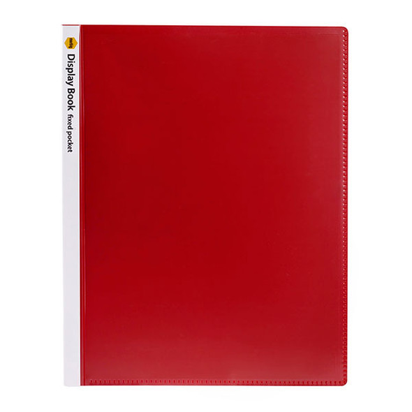 Marbig Non Refillable Display Book Insert Cover 40 Pages Red