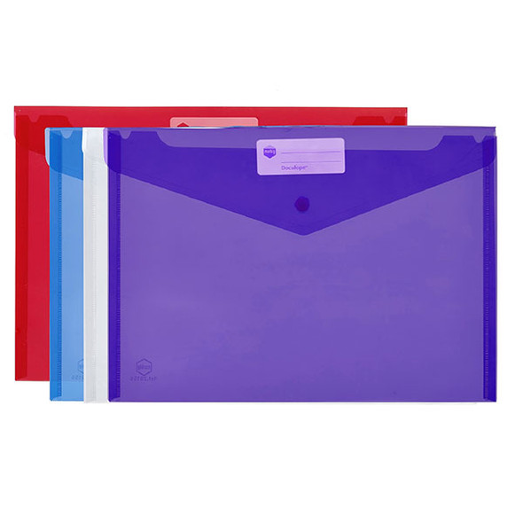 Marbig Doculope Document Wallet A4 Assorted Pack 10
