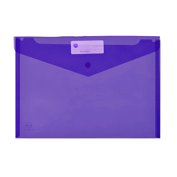 Marbig Doculope Document Wallet A4 Purple