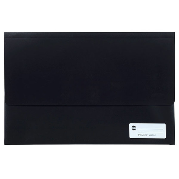 Marbig Polypick Foolscap Document Wallet Black