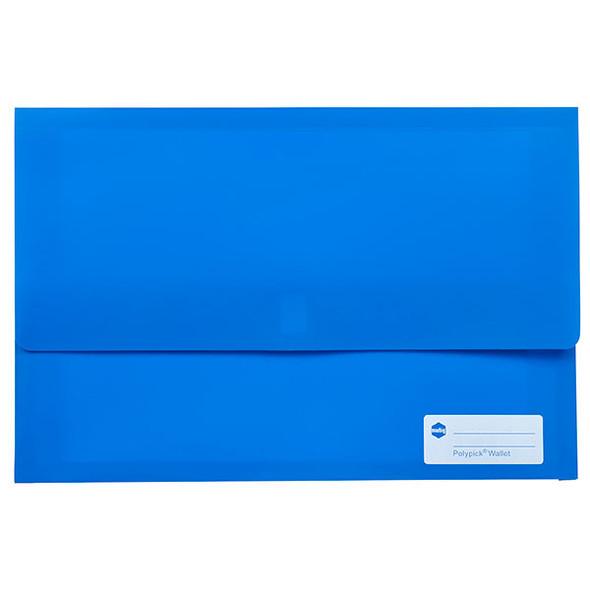 Marbig Polypick Foolscap Document Wallet Blue