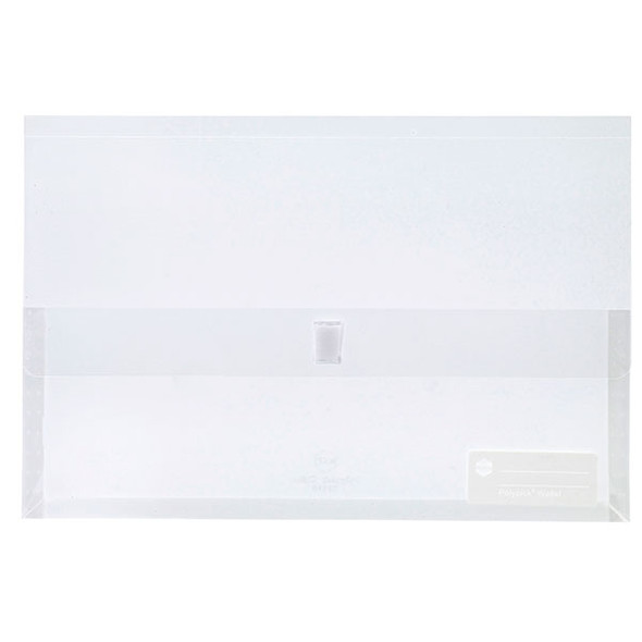 Marbig Polypick Foolscap Document Wallet Clear