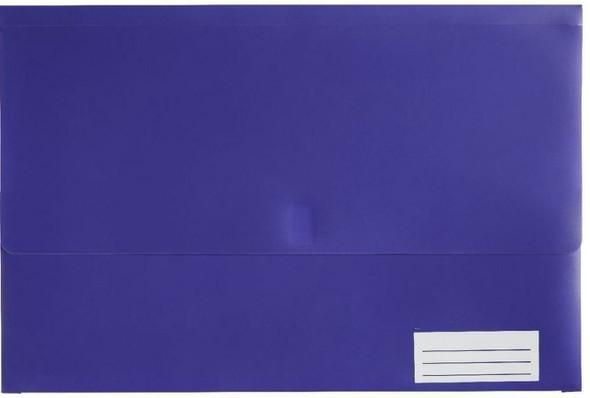 Marbig Polypick Foolscap Document Wallet Purple
