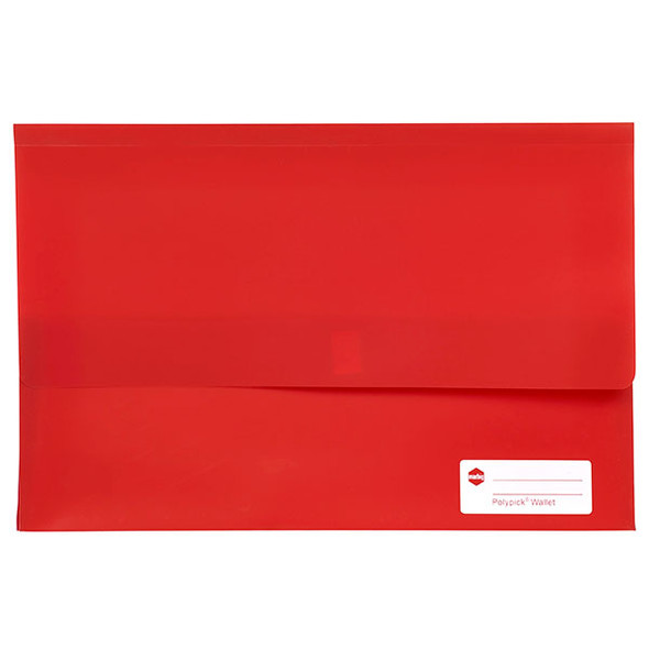 Marbig Polypick Foolscap Document Wallet Red