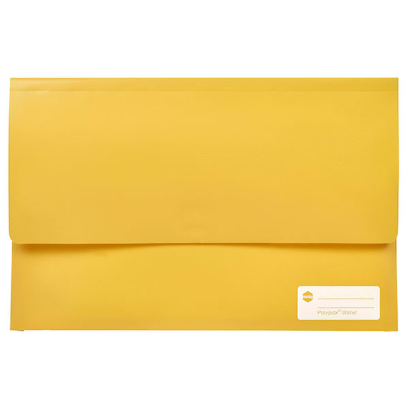 Marbig Polypick Foolscap Document Wallet Yellow