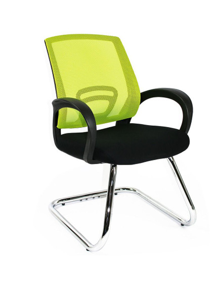 Things change at a lighting pace in today's work place, the Trice is keeping up pace with the changes, with stylish one piece molded arms, comfortable fabric seat, breathable mesh back all mounted on a stylish metal chrome base.