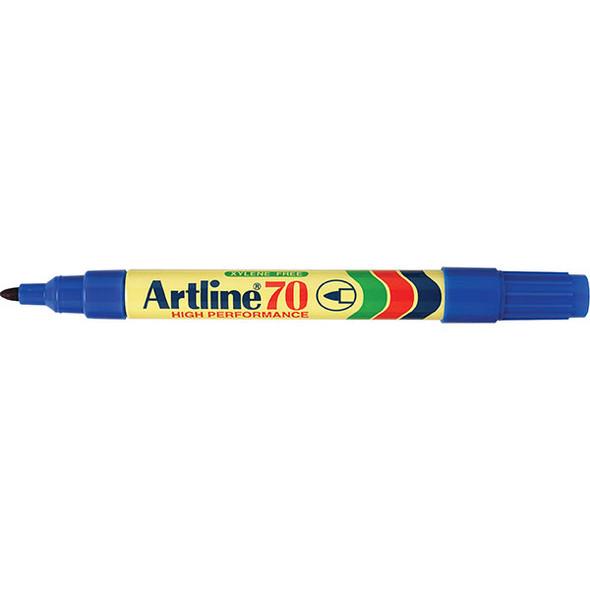 Artline 70 Permanent Marker 1.5mm Bullet Nib Blue