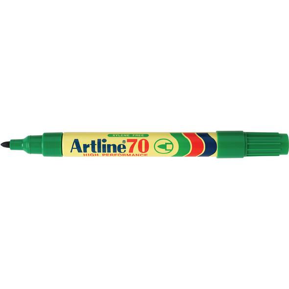 Artline 70 Permanent Marker 1.5mm Bullet Nib Green