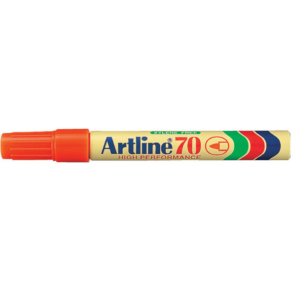 Artline 70 Permanent Marker 1.5mm Bullet Nib Orange