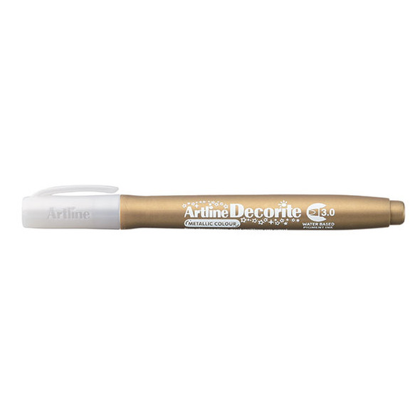 Artline Decorite Metallic 3.0mm Nib Gold
