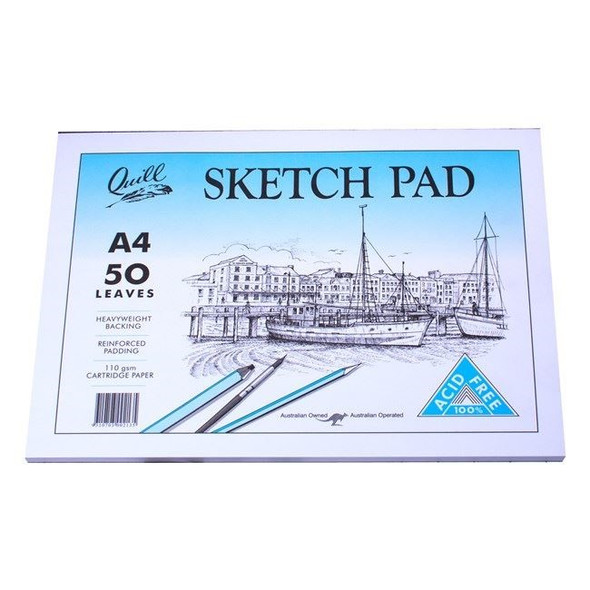 Quill Sketch Pad 110GSM A4 100 Pages - White