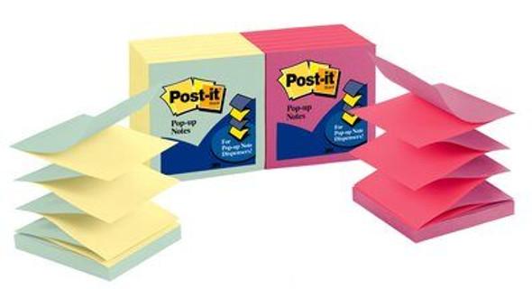 Post-it Pop-up Notes Pastel 76x76mm 12 Pack,R330-U-ALT -Capetown
