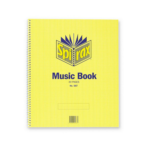 Spirax 567 Music Book 297X248mm 30 Page