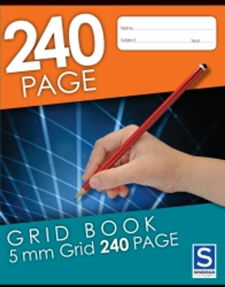 Grid Binder Book Sovereign 225x125mm 240 Page 5mm Grid
