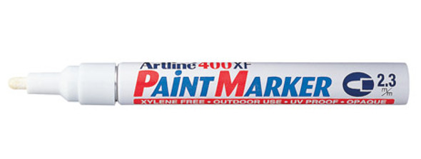 Artline 400 Permanent Paint Marker 2.3mm Bullet Tip White