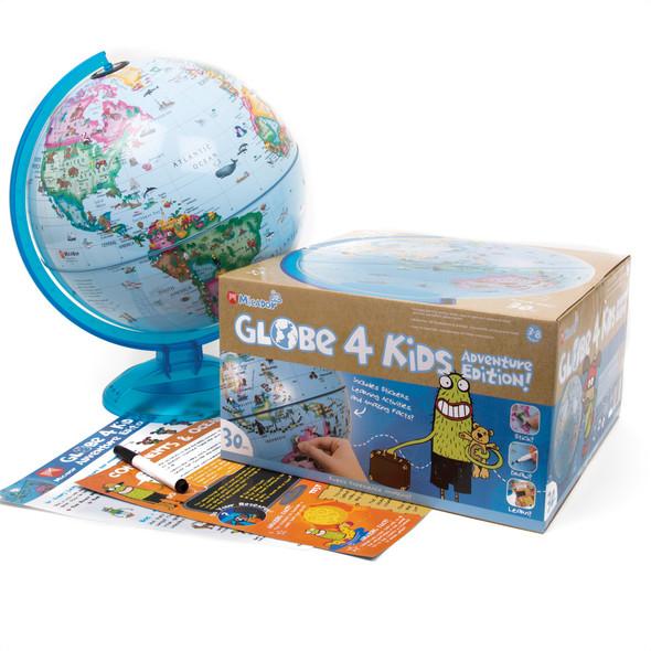 Junior World Globe 4 Kids Blue
