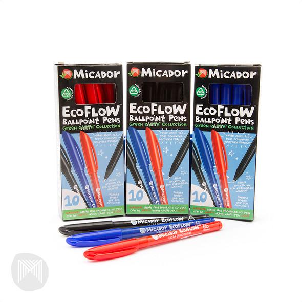 Micador EcoFlow Ballpoint Pen Box 10