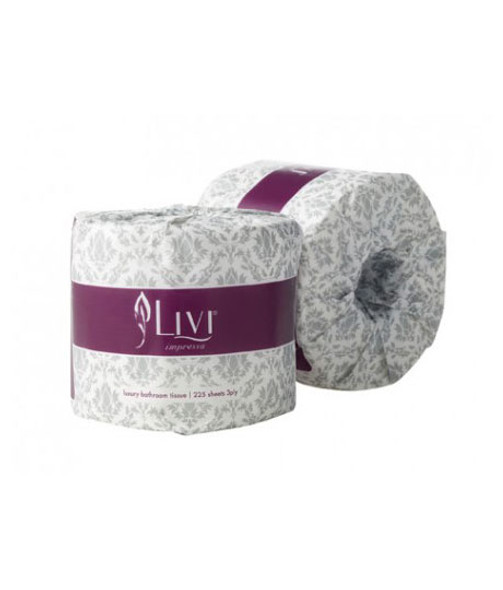 Livi Impressa bathroom embossed Toilet Paper 3ply 225s Box 48 – 3005