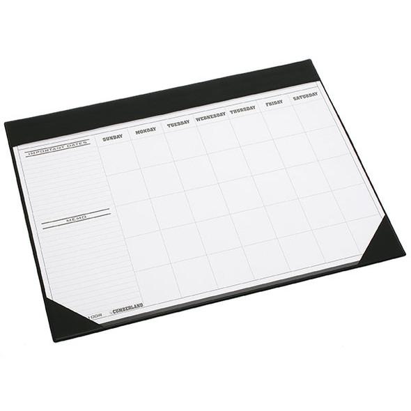 Cumberland PVC Desk Calendar Planner 455x580mm Black