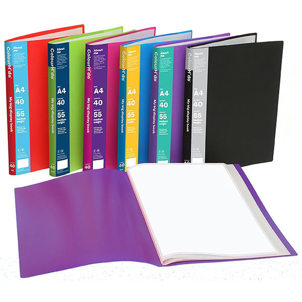Colourhide My Big Display Book A4 40 Pocket
