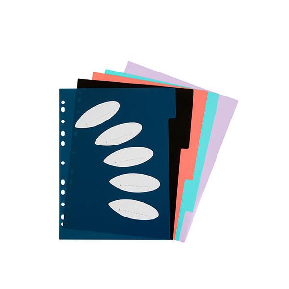 Colourhide Bindermate Divider A4 PP 5 Tab