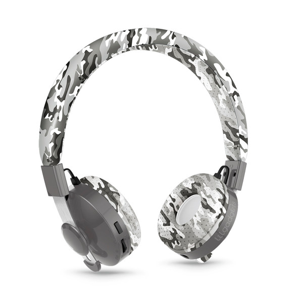 LilGadgets Untangled Pro Children's Wireless Bluetooth Headphones – Snow Camo